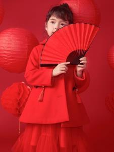 棣仔新款童装红色外套