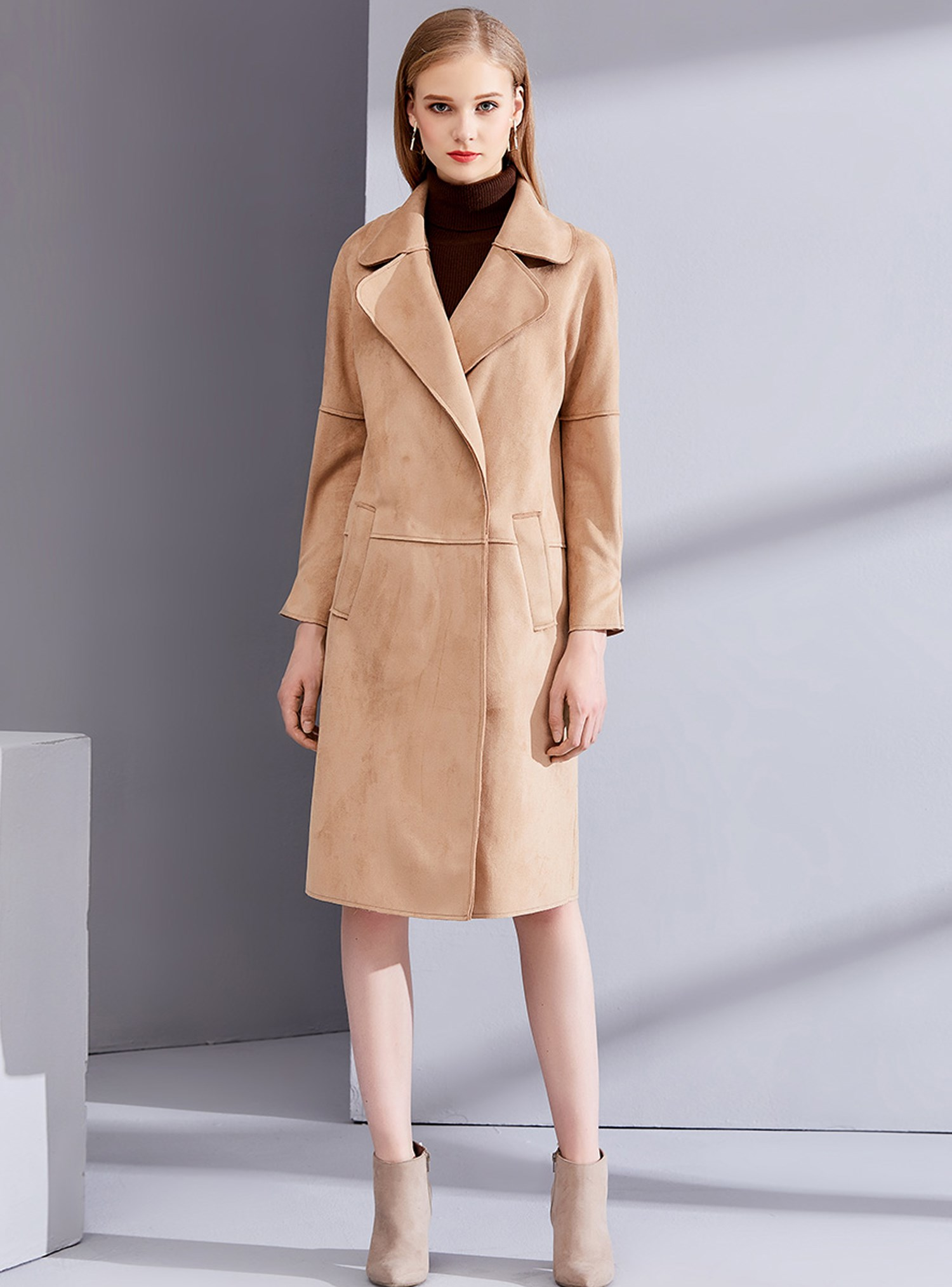 印象草原气质女装大衣尾货批发市场
