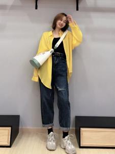 优主义黄色衬衫