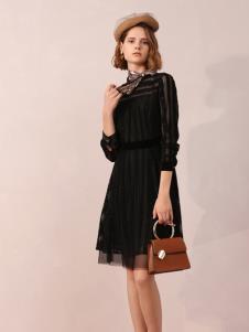 百图冬季女装新款连衣裙