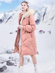 春美多粉色羽绒服