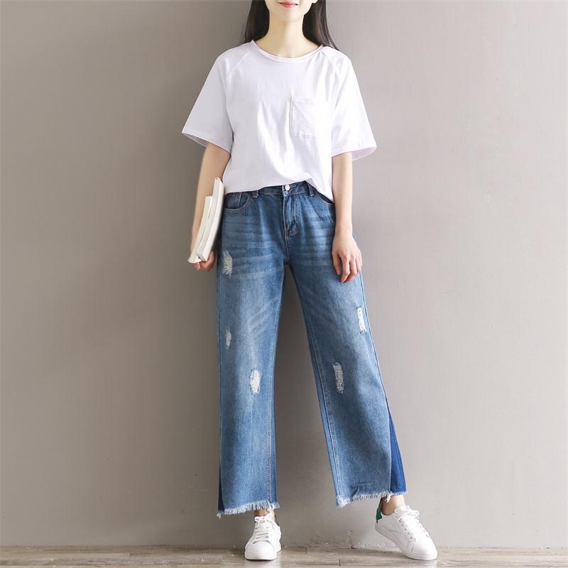 娅丽达女装休闲收腰牛仔裤折扣尾货批发挑款走份平台
