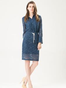 三弗蓝色纱裙