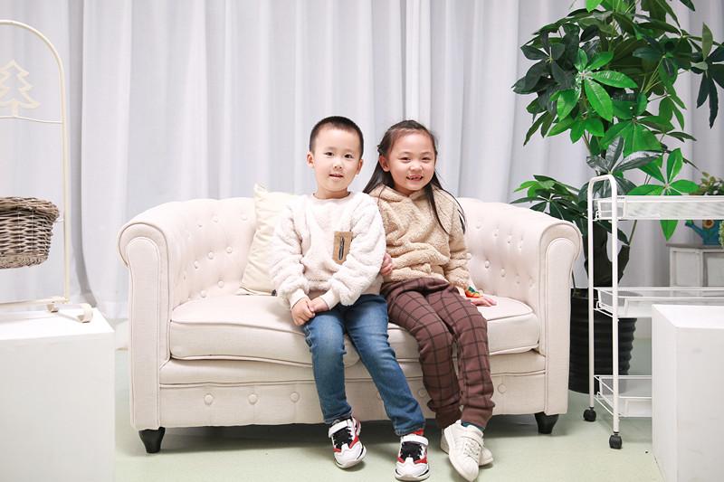 泰特厂家供应儿童双面绒卫衣2019冬季新款加厚