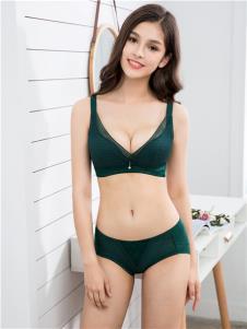杜妮芬内衣新品墨绿色时尚文胸