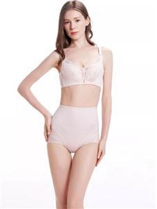 都市丽人内衣都市丽人粉色深V文胸套装