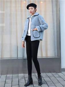 古米娜2019冬季蓝色上衣