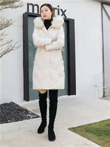 古米娜2019冬季长款羽绒服