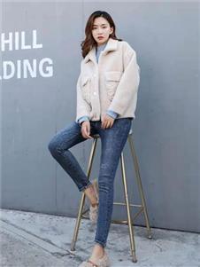 古米娜2019冬季新款羊羔绒外套