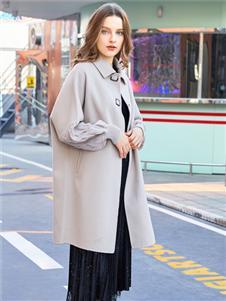 金蝶茜妮新款双面呢大衣