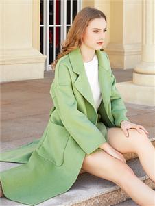 金蝶茜妮时尚气质双面呢大衣