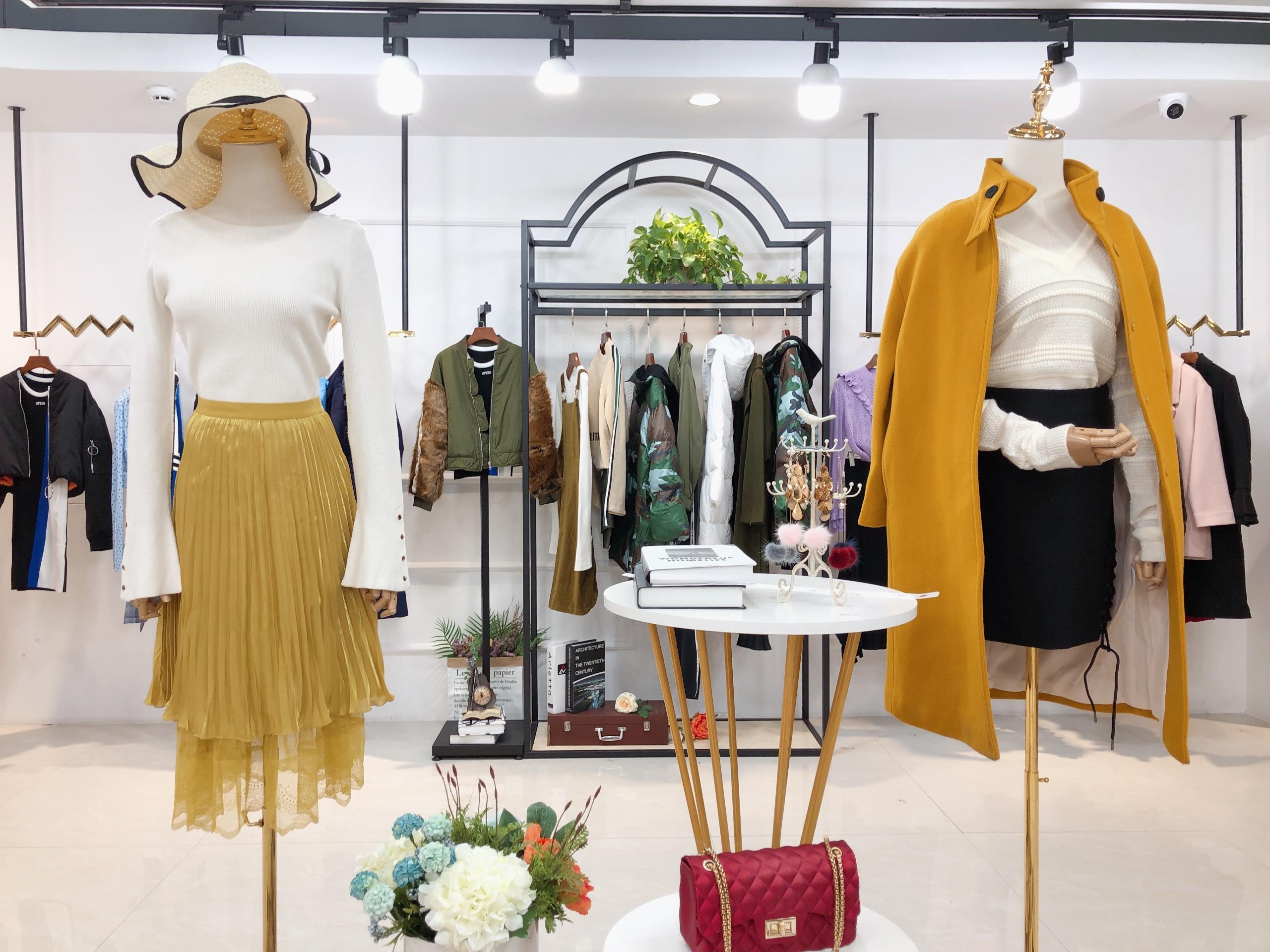 高端品牌专柜货品欧时力品牌女装折扣批发广州女装批发