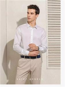报喜鸟男装2019新款白色衬衫