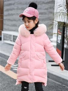 可可鸭QQDUCK粉色羽绒服