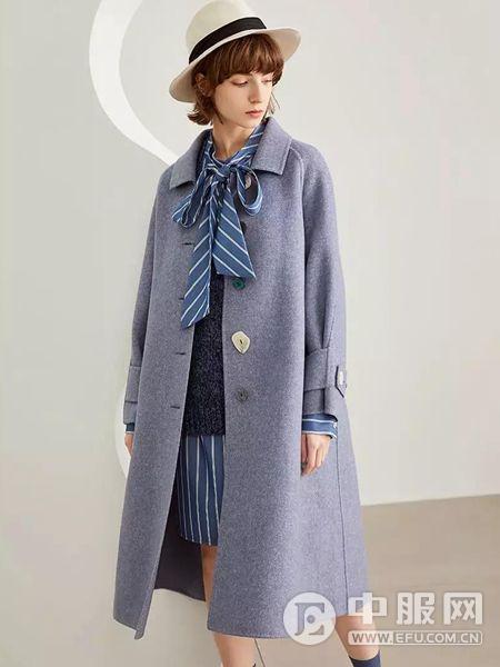 LESIES蓝色倾情女士大衣