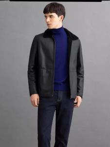 沙驰冬季新款男装皮衣