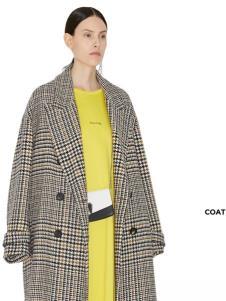 玛丝菲尔冬季新款格子风衣
