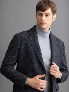 沙驰冬季新款男装呢子风衣