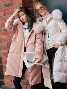 布根香2019新款冬季女装羽绒服