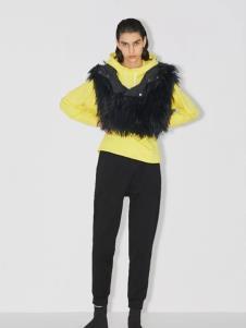 玛丝菲尔女装玛丝菲尔冬季新款皮草黑色