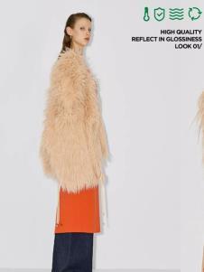 玛丝菲尔女装玛丝菲尔冬季新款浅色皮草