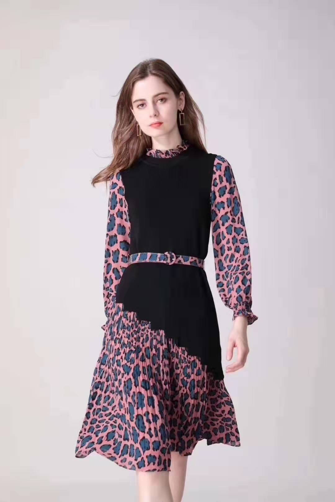女装尾货 杭州大码女装 舒丽装点 连衣裙 专柜尾货折扣批发