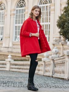 雨珊女装新款红色宽松外套