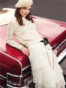 魅之女新款纯色半身裙
