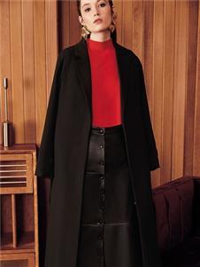 魅之女秋冬新款黑色大衣