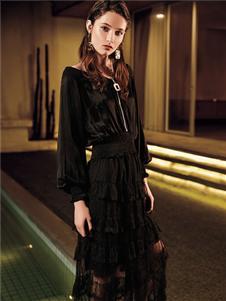 魅之女新款黑色外套