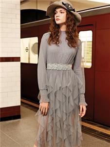 魅之女收腰气质连衣裙