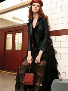 魅之女新款时尚气质皮衣