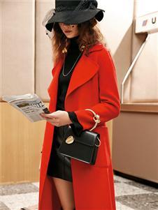 魅之女新款红色大衣