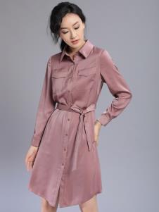 千桐女装冬季新款衬衫裙