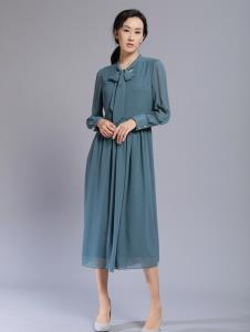 千桐女裝冬季新款雪紡連衣裙