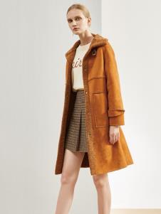 丽芮新款女装焦糖大衣