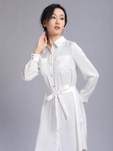 千桐女裝冬季新款白襯衫