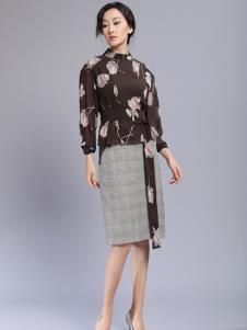 千桐女裝冬季新款格子半裙