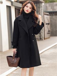 芊伊朵时尚气质黑色大衣
