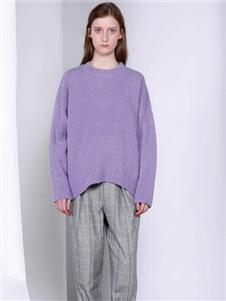 FANKAI梵凯紫色气质卫衣