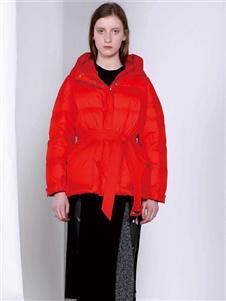 FANKAI梵凯红色收腰气质连衣裙