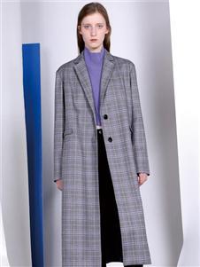 FANKAI梵凯长款格子大衣