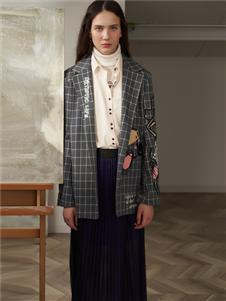FANKAI梵凯时尚气质格子西装外套