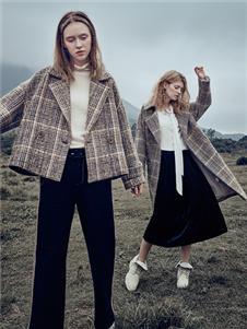 丽迪莎秋冬新款时尚格子外套