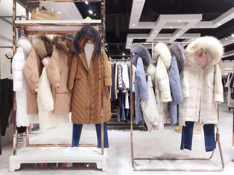 廠家直銷美衫美品牌女裝羽絨服市場散挑混批貨源