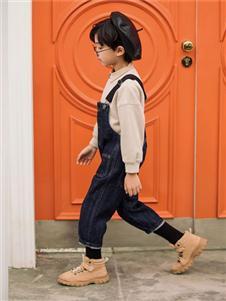 两个小朋友童装两个小朋友2019新款背带裤