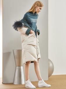 丽芮冬季新款女装长款羽绒服