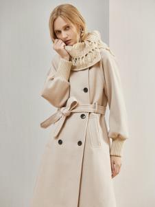 丽芮冬季新款女装毛呢风衣