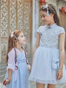 巴柯拉童裝春夏新款漢服連衣裙