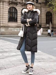 碧成萱2019冬季女装长款羽绒服